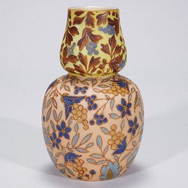 """506: Tischler Karlsbad vase, decorated, 8 1/2"""""""