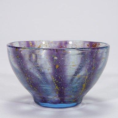 """518: WMF bowl, amethyst/blue/yellow, 3""""X4 7/8"""""""