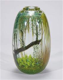 """768: Peiser, Mark paperweight vase, 10 1/2"""""""