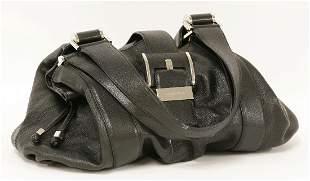 A Michael Kors black leather shoulder handbag