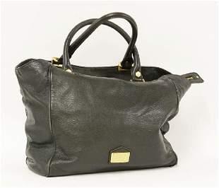 A Marc Jacobs black leather tote shoulder handbag