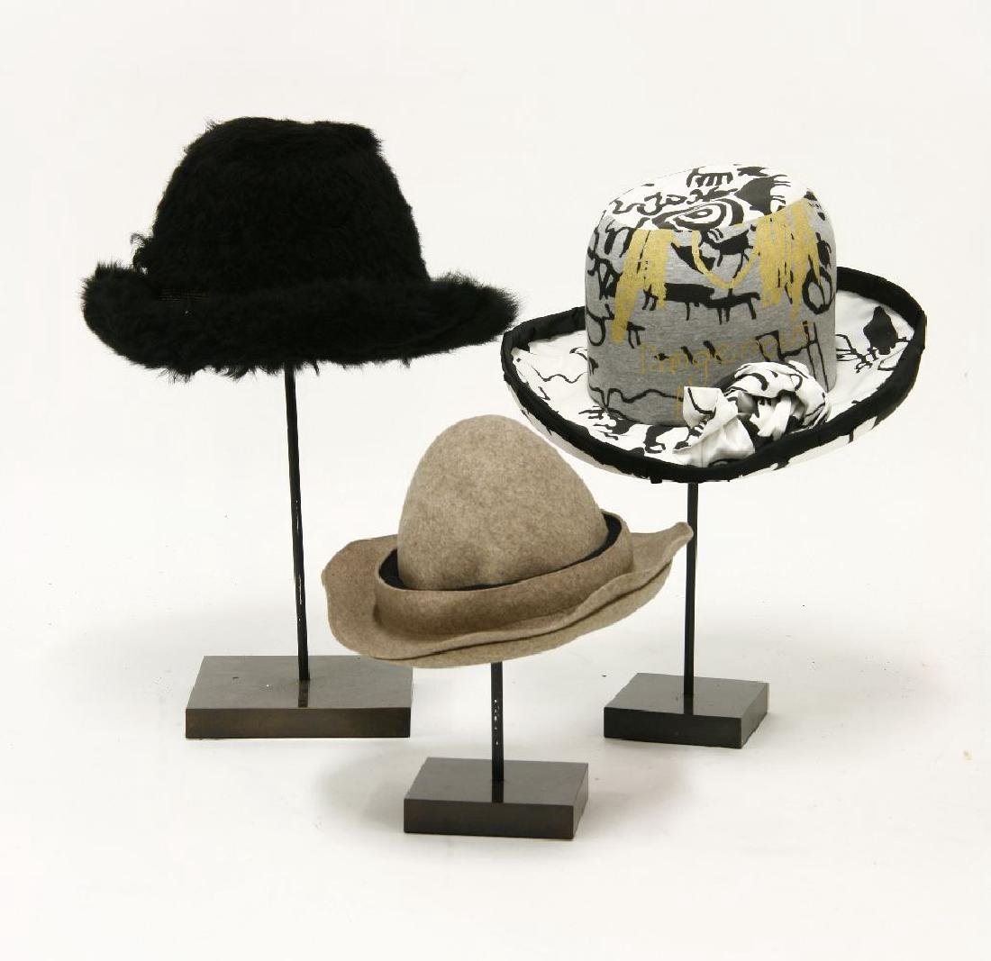 A group of three Vivienne Westwood hats, 1982-83 and