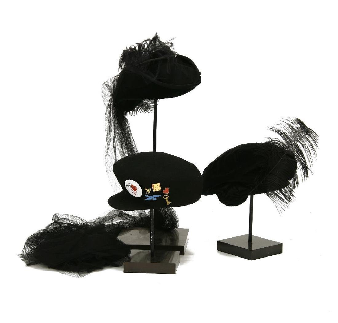 A group of three Vivienne Westwood hats, 21st century,