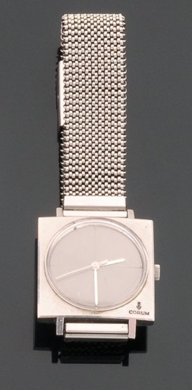 A Gentleman's Stainless Steel Corum Automatic Strap