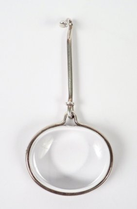 22: A sterling silver rock crystal modernist pendant by