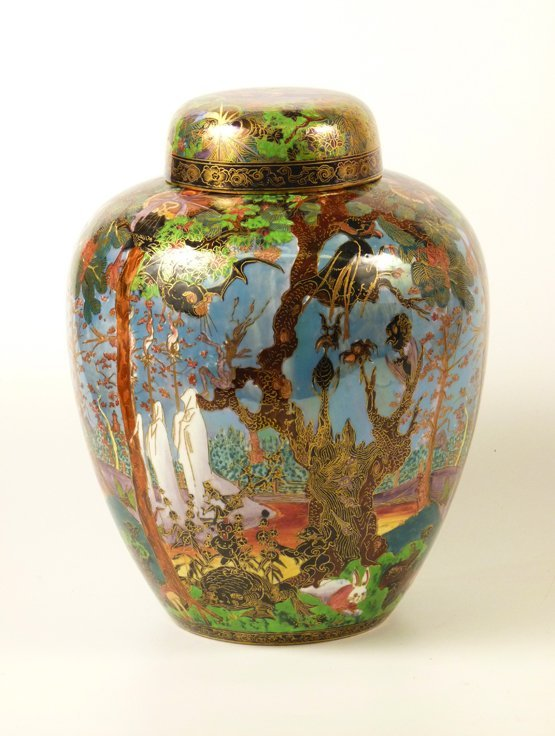 91: A Wedgwood Fairyland Lustre 'Ghostly Wood' Malfrey  - 10