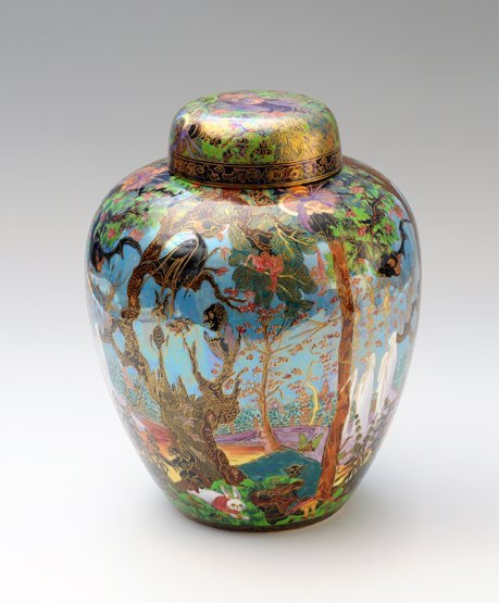 91: A Wedgwood Fairyland Lustre 'Ghostly Wood' Malfrey