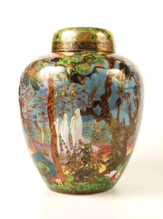 91: A Wedgwood Fairyland Lustre 'Ghostly Wood' Malfrey  - 2