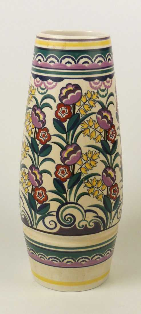 143 A Poole Pottery Vase By Gwen Haskins Painted Wit