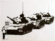 248: *Banksy (b.1975), GOLF SALE Screenprint, numbered