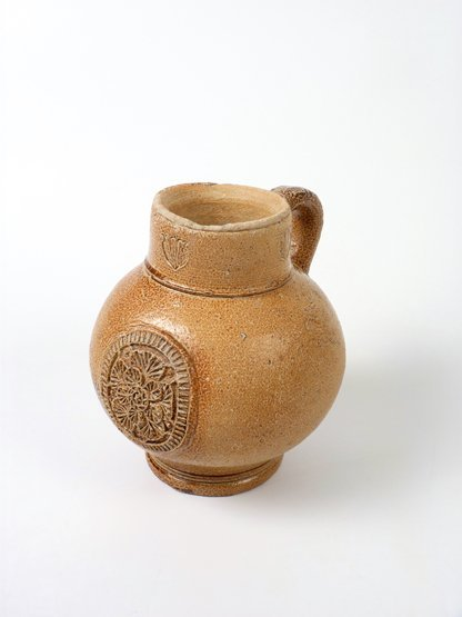 A German stoneware Flagon,  possibly Frechen, 17th cent