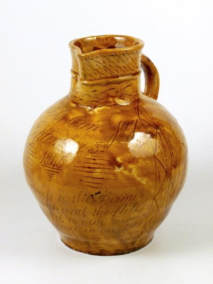 A West Country pottery Documentary Jug, dated 1845, inc