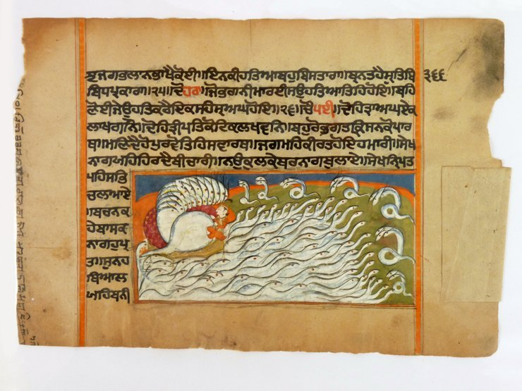 Thirty-five illustrated leaves from a Hindu manuscript,