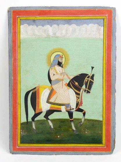Sikh School (early 19th century), SIKH RULER ON HORSEBA