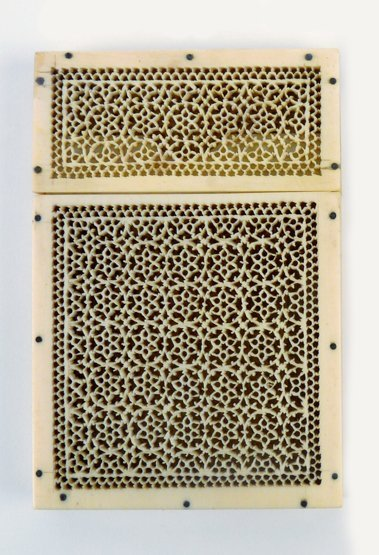 An Indian ivory Card Case, second half of the 19th cent