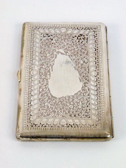 A Sinhalese silver Cigarette Case, early 20th century,
