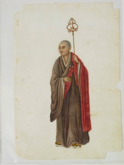 Twelve pith paper Paintings,  19th century, with variou