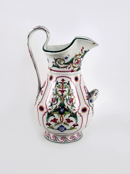 A large earthenware Ewer, possibly Ridgway, mid 19th ce