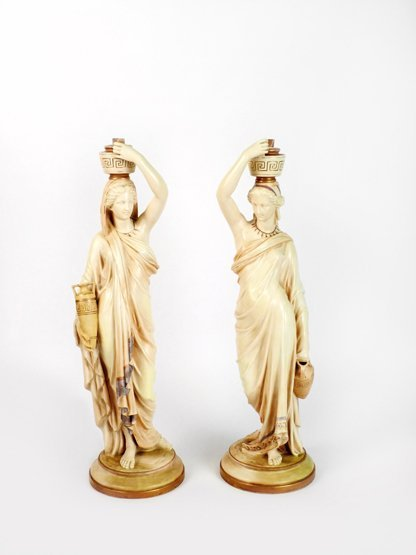 A pair of Royal Worcester Figures, modelled as Grecian