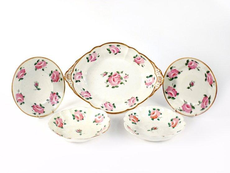 A Swansea porcelain part Dessert Service,  late 19th ce