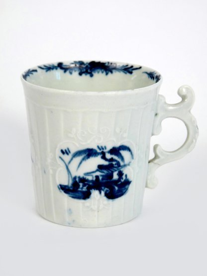 A rare Worcester Coffee Can, c.1752-55, moulded with ca