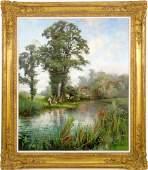 Henry John Yeend King 18551924 A LANDSCAPE WITH MOT