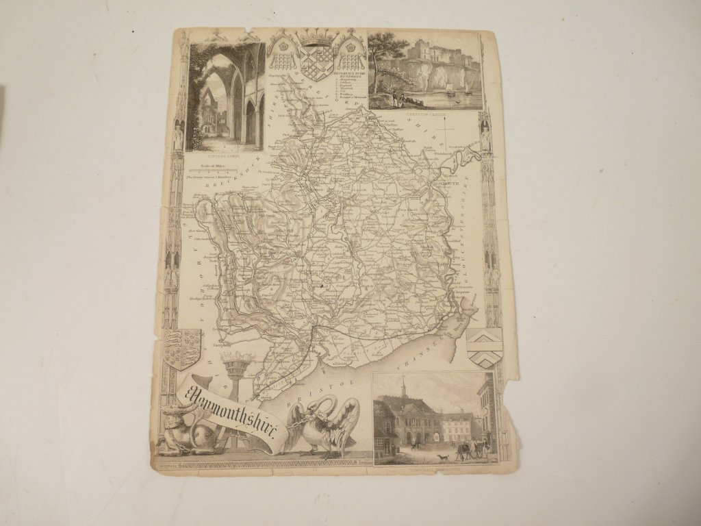 Ten English County maps, by or after Moll, Huntingdonsh