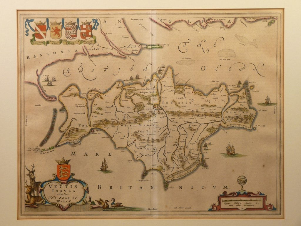 Johannes Blaeu, VECTIS INSULA ANGLICE,  map of Islev of