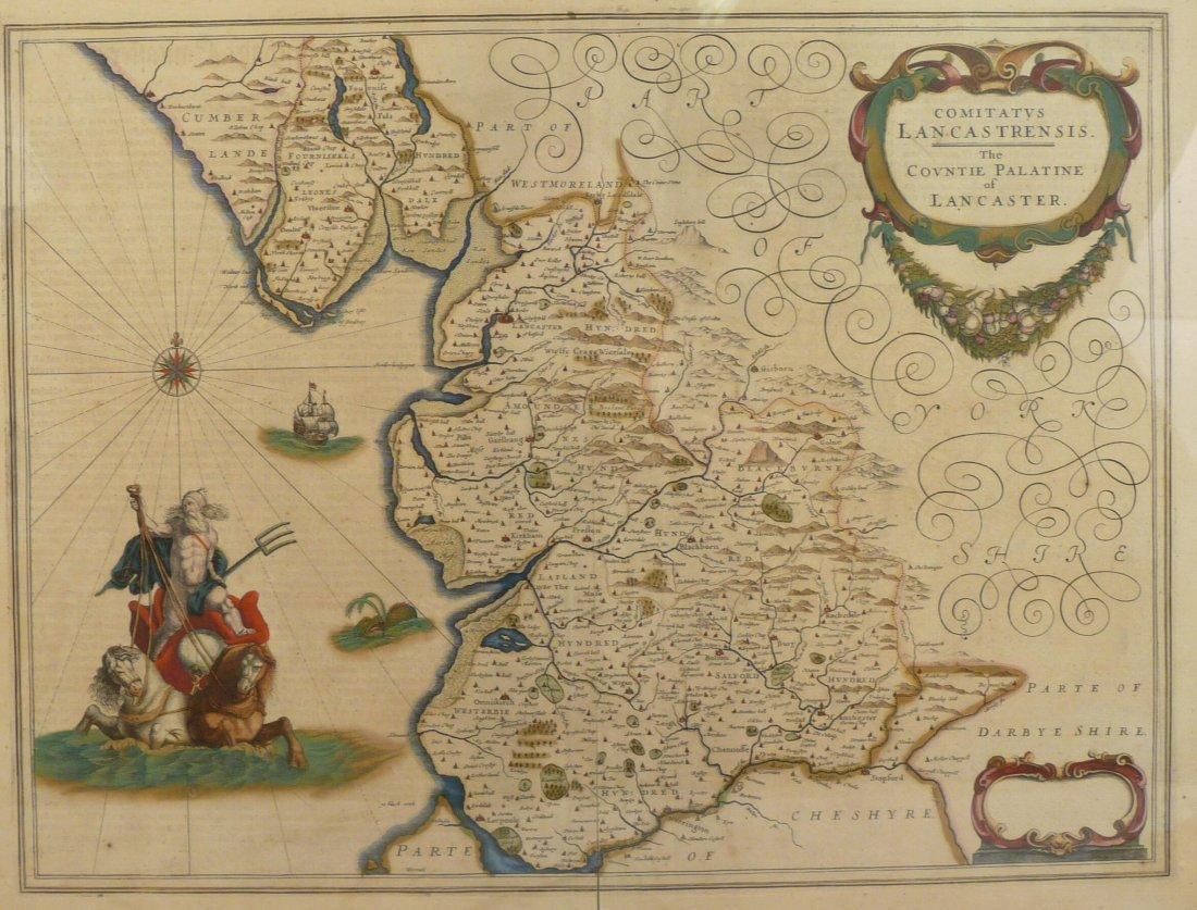 Janssoniuis (J), COMITATUS LANCASTRENSIS - THE COUNTIE