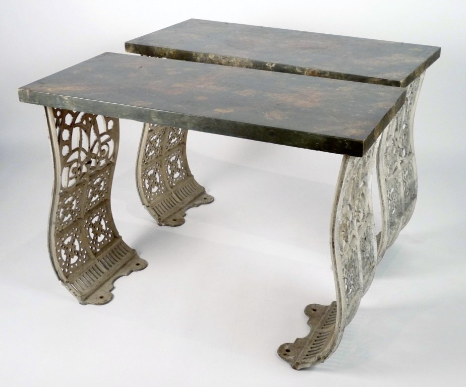 ATTRIBUTED TO CHRISTOPHER DRESSER A pair of pier tables