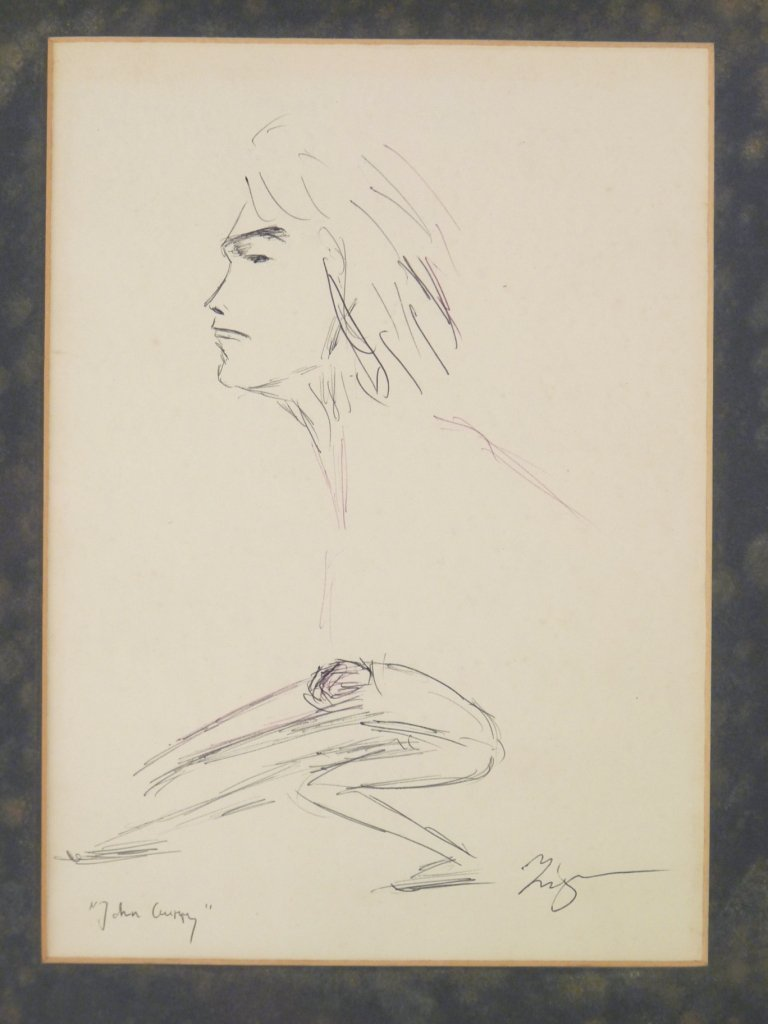 Ziggler ? 'JOHN CURRY' Pen and ink, inscribed and indis