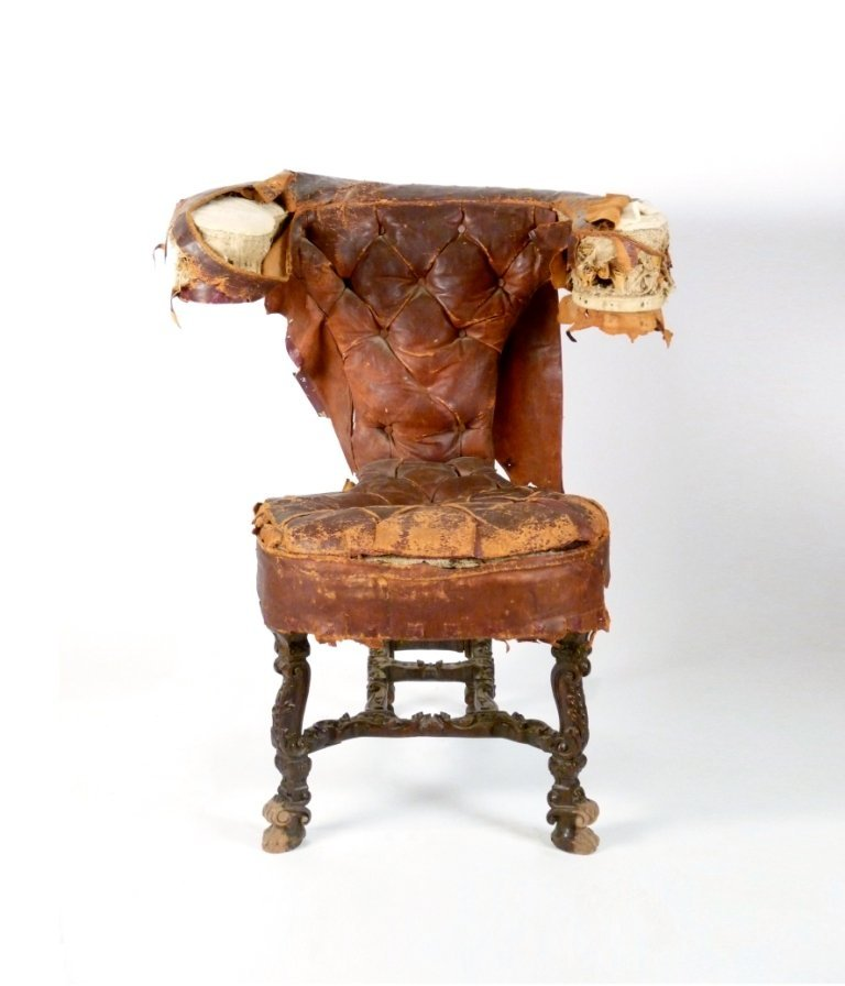 A walnut library/reading chair, principally c.1850 with