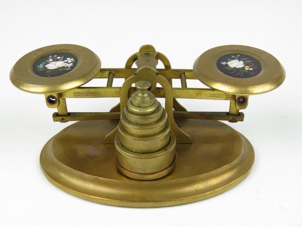 Sampson Mordan & Co.,  a fine set of gilt brass postal