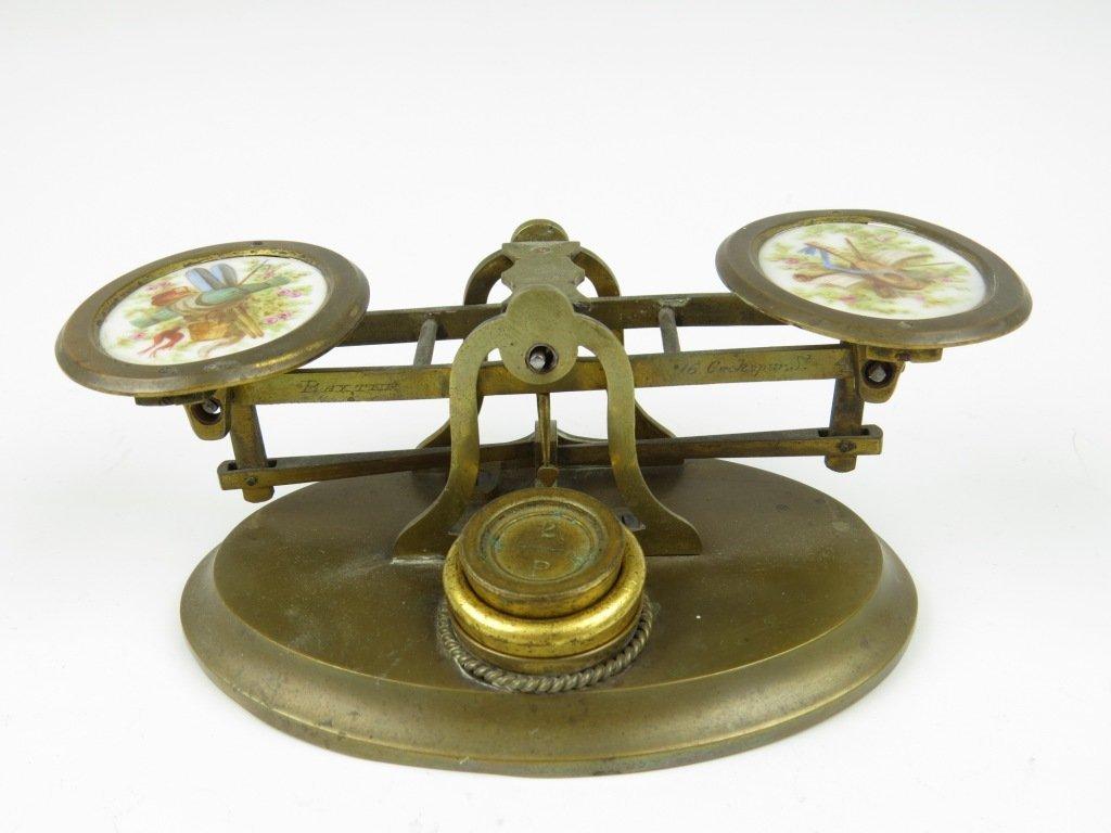 Sampson Mordan & Co.,  a rare set of postal scales, c.1