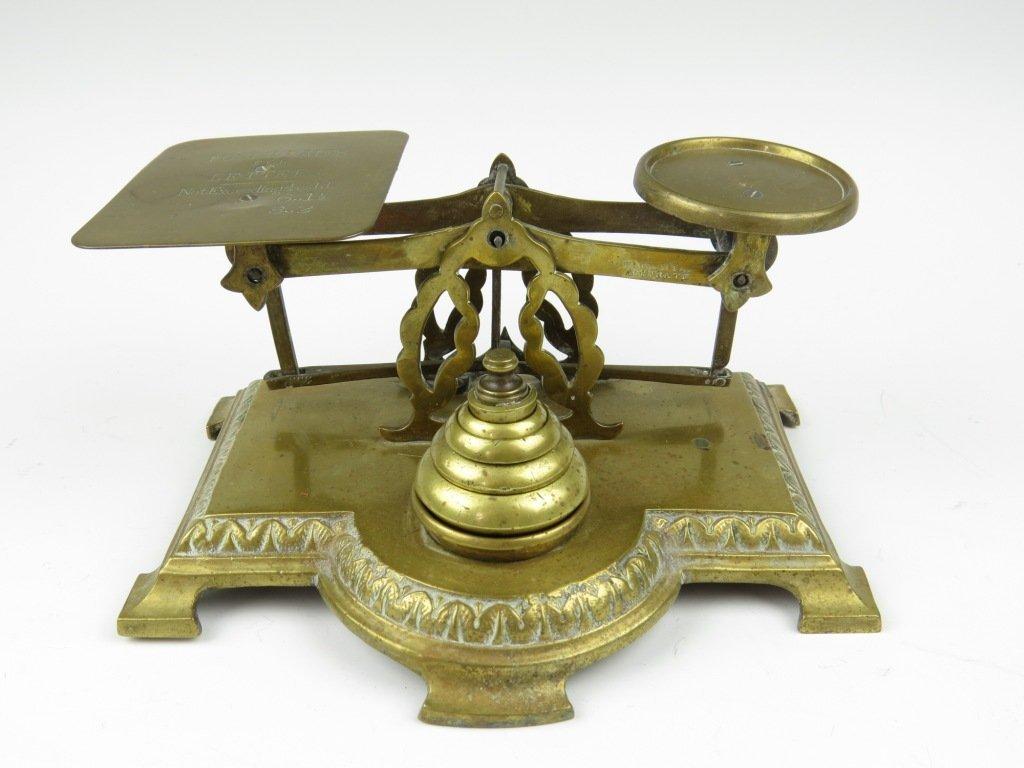 Samuel Turner Senior,  a set of brass postal scales, th