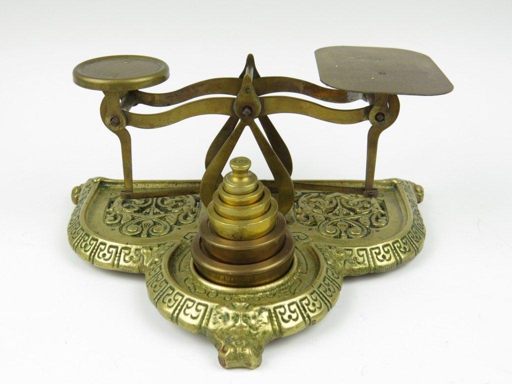 Townshend & Co.,  a set of decorative cast brass postal