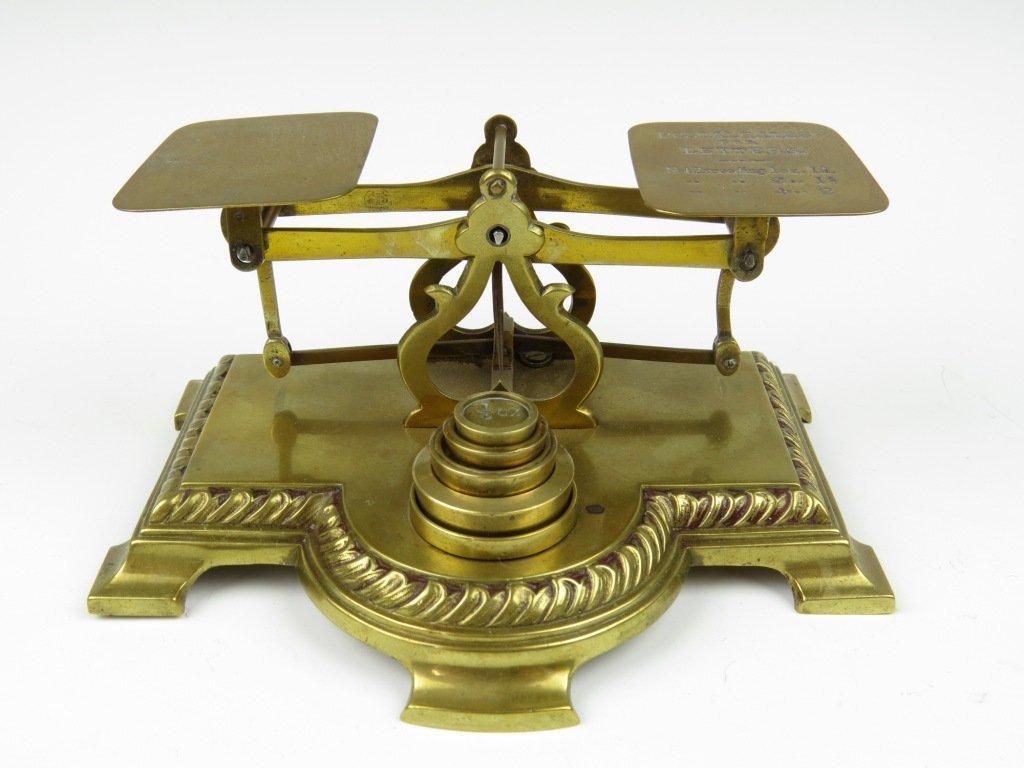 Samuel Turner Senior,  a set of brass postal scales, c.