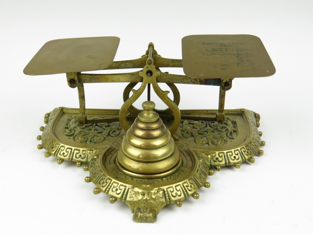 Townshend & Co.,  a set of brass postal scales, c.1897-
