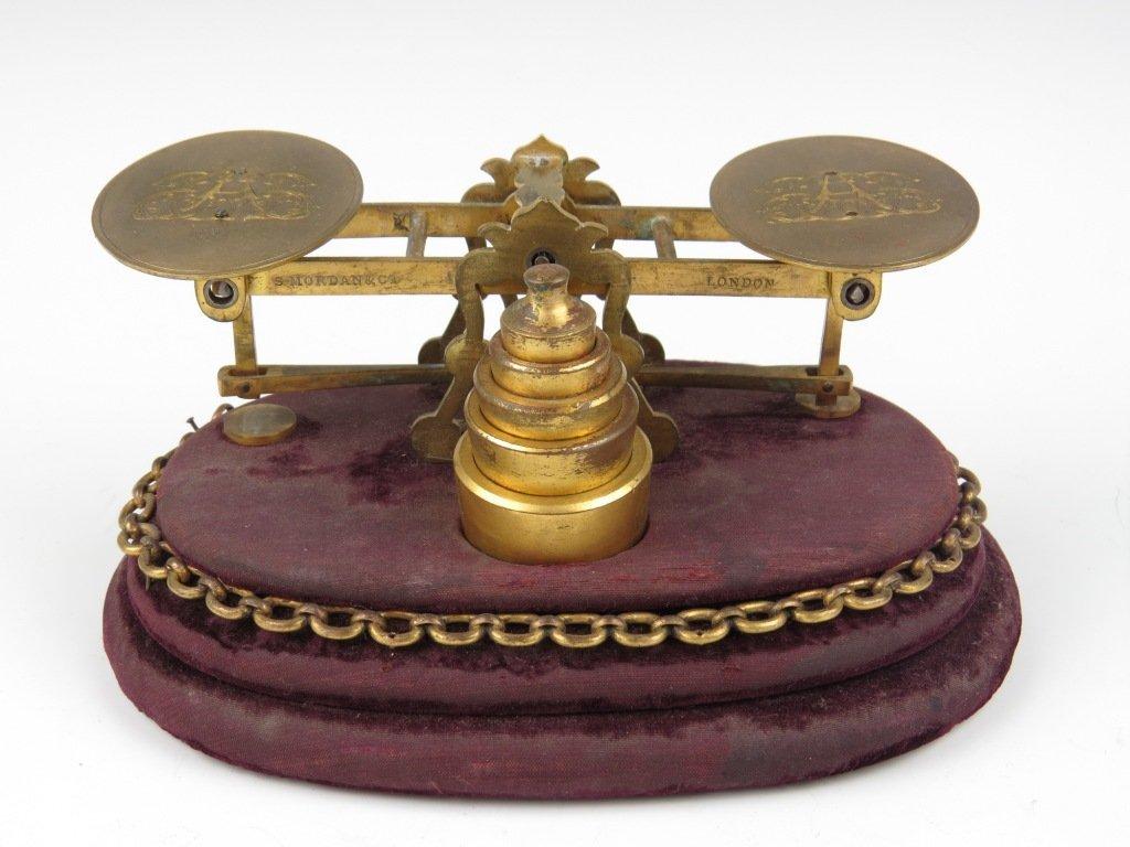 Sampson Mordan & Co.,  a rare brass postal scale, c.187
