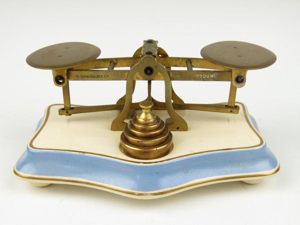 Sampson Mordan & Co.,  an unusual set of brass postal s