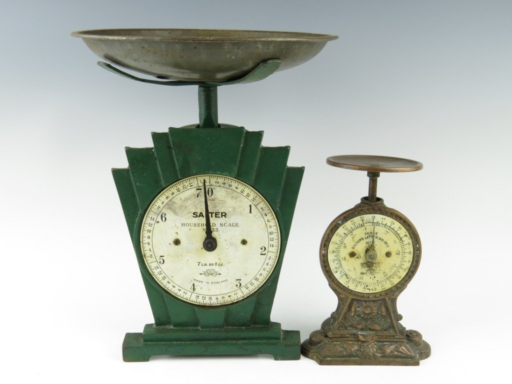 A Salter Art Deco household scale, No.33,  c.1920, with