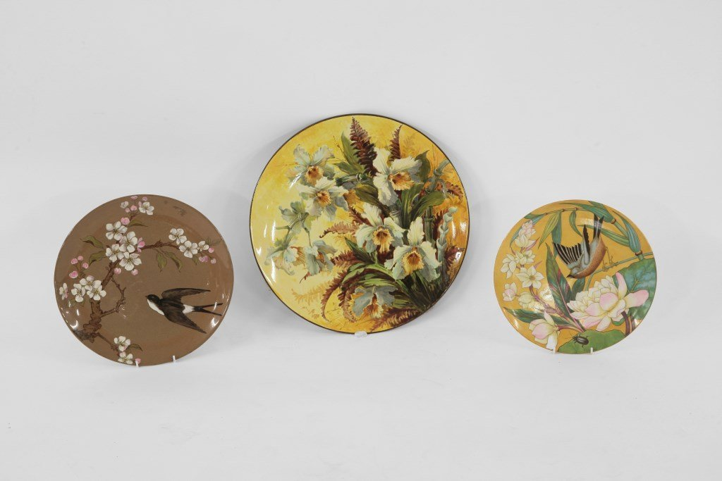 A Doulton faience Charger, c.1880, by Florence Lewis,