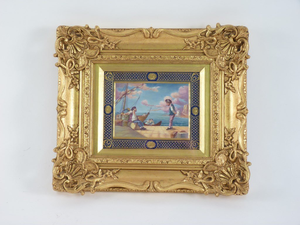 A Minton's bone china Plaque, c.1875, painted by M