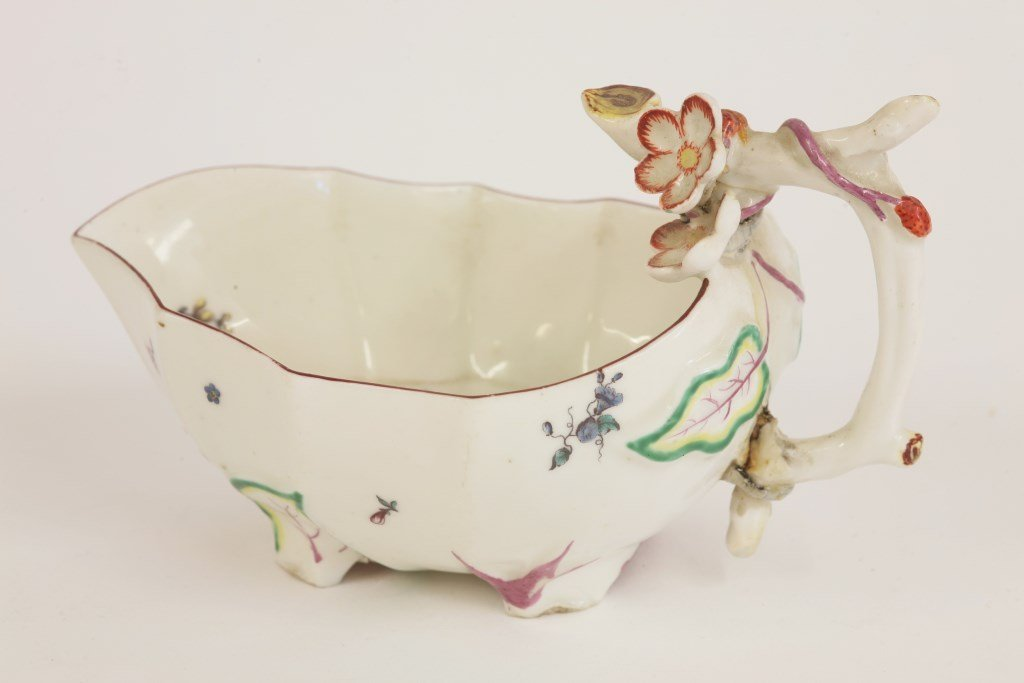 A rare Chelsea Sauce Boat,  c.1752-5, in the form of a