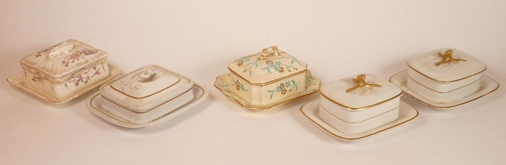 Five Victorian and later sardine boxes and covers, a