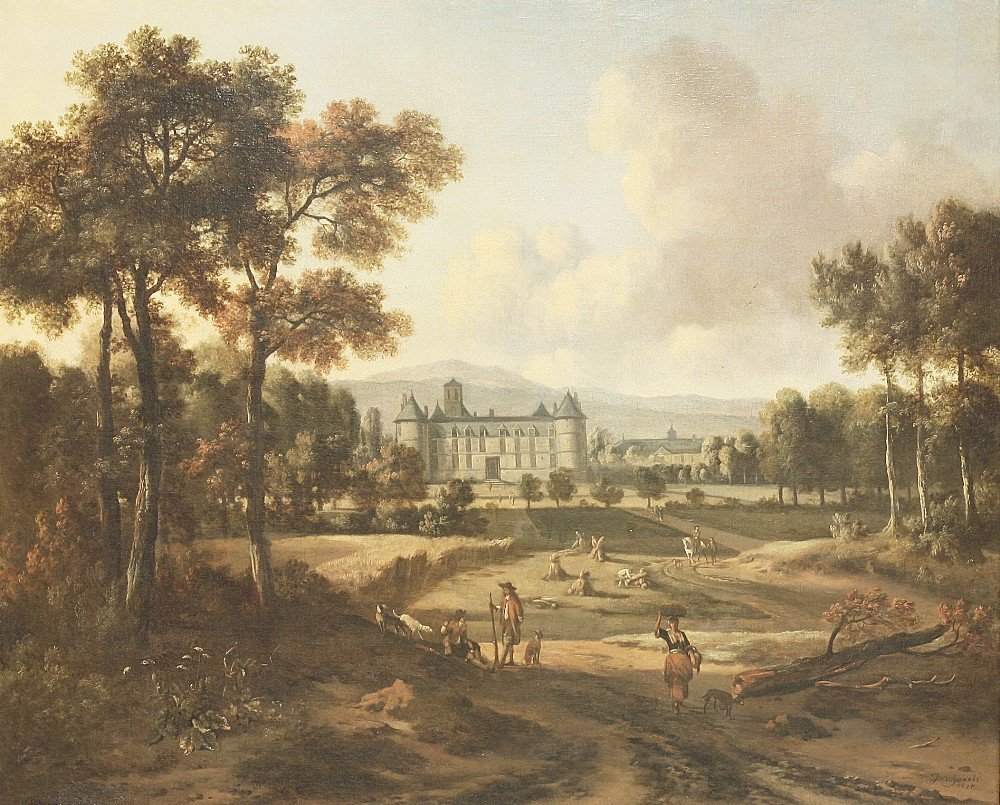Jan Wijnants (Dutch 1630-1684), A VIEW OF THE CHÂTEAU