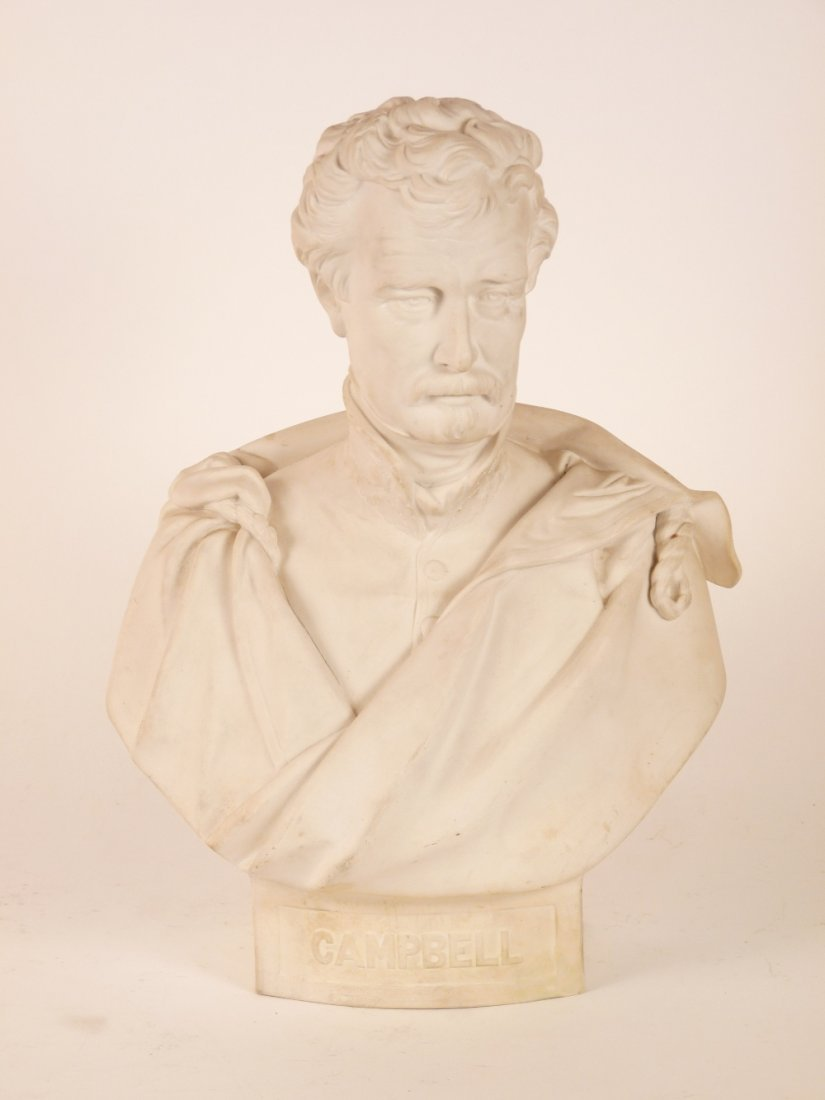 A Victorian Parian ware bust of Sir Colin Campbell,
