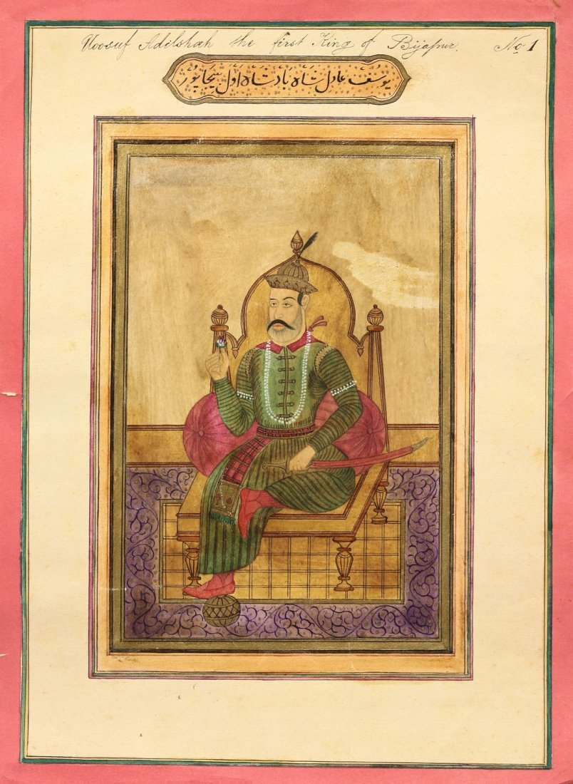 A set of eight Indian Miniatures, second half of the