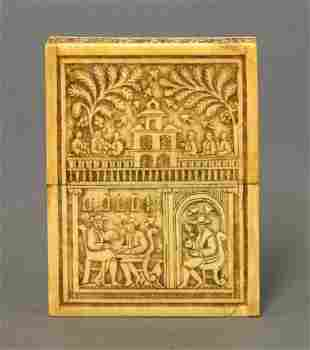 A very rare Indian ivory Card Case, late 18th/early