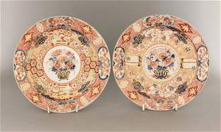 An unusual pair of Imari Plates, probably first half of